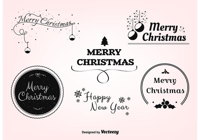 Gratis Kerst Vector Labels