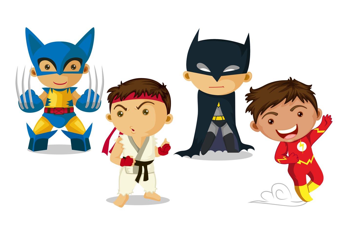 Super Hero Kid Vectors - Download Free Vector Art, Stock Graphics ...