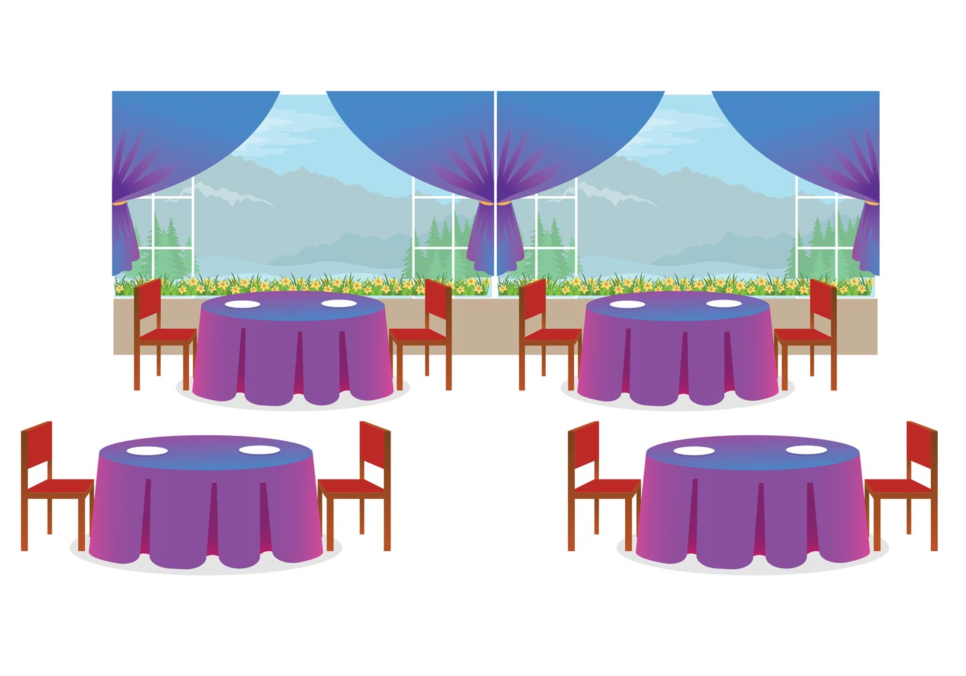 Restaurant interior vector download free art