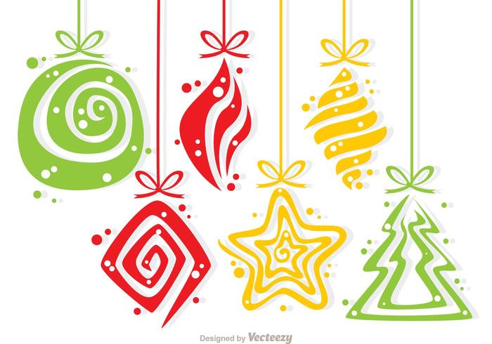 Christmas Swirl Decoration Vector Pack
