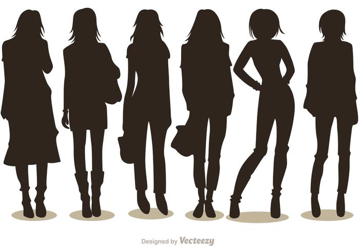 Silhouette Fashion Girl Vectors Pack 1