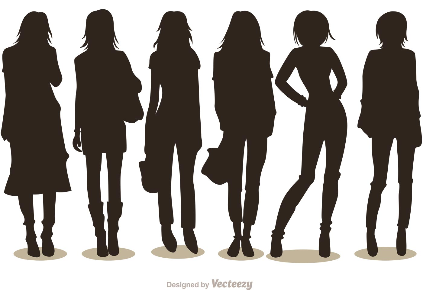 Silhouette Fashion Girl Vectors Pack 1 - Download Free ...