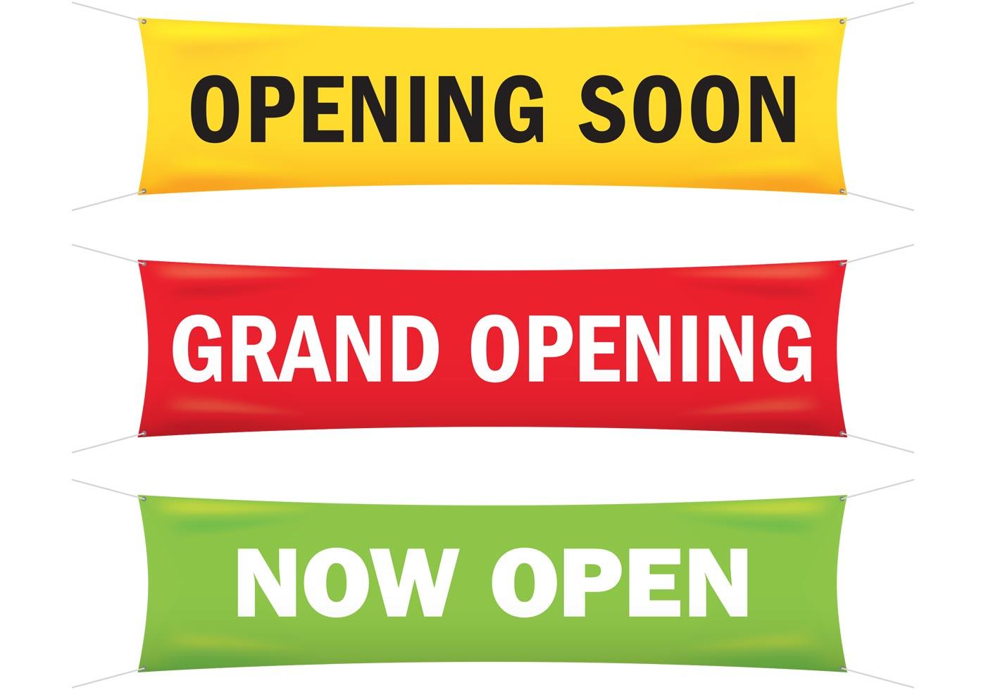 grand opening banner vectors