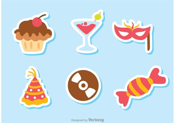Color Birthday Icon Vectors Pack 1
