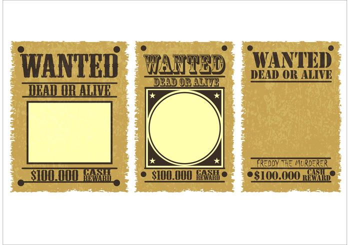Wanted Poster Vectors