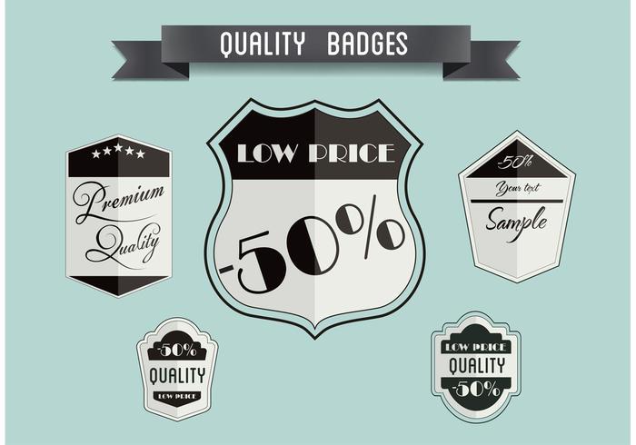 Free Vector Badge Set