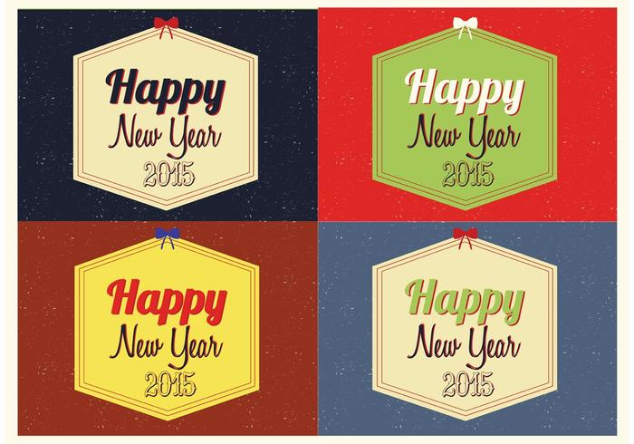 Free Happy New Year Vector Backgrounds
