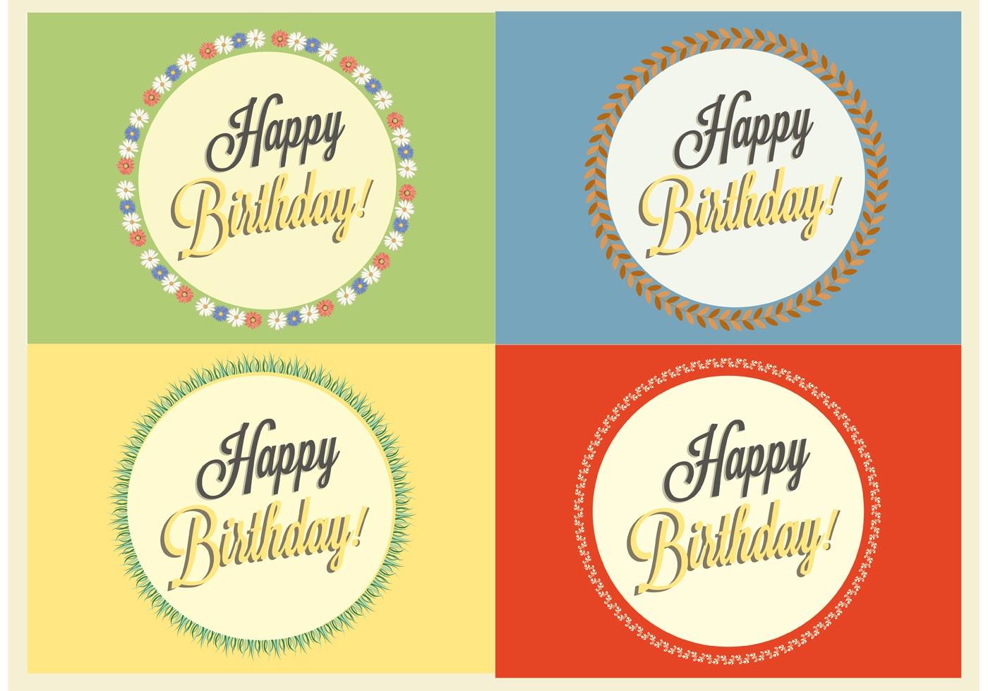 Free Happy Birthday Vector Badges Download Free Vectors