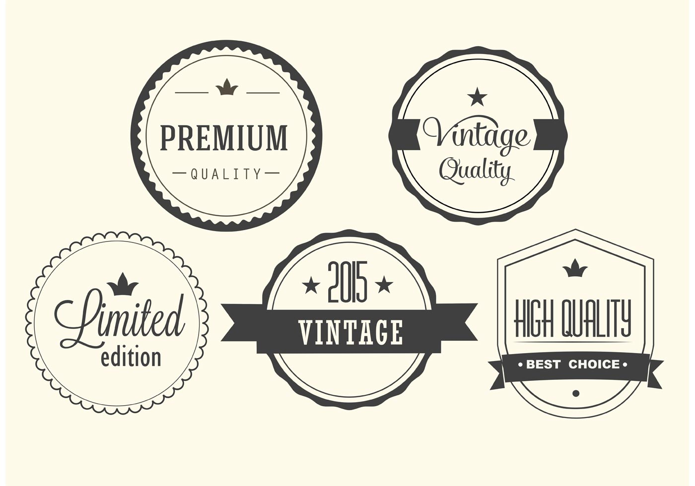 Free Vintage Vector Label Set - Download Free Vector Art ...