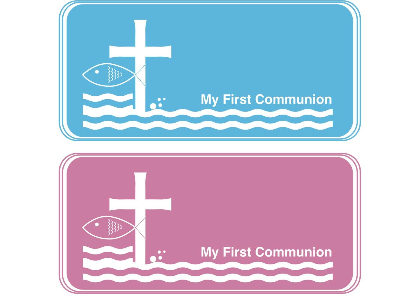 First Communion Banner Vectors 20 Vector Art at Vecteezy Pertaining To First Communion Banner Templates