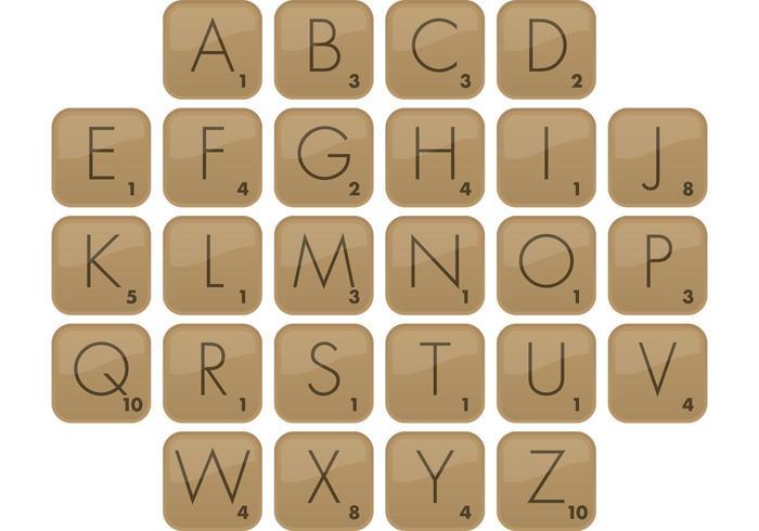 Scrabble Font Vector Type