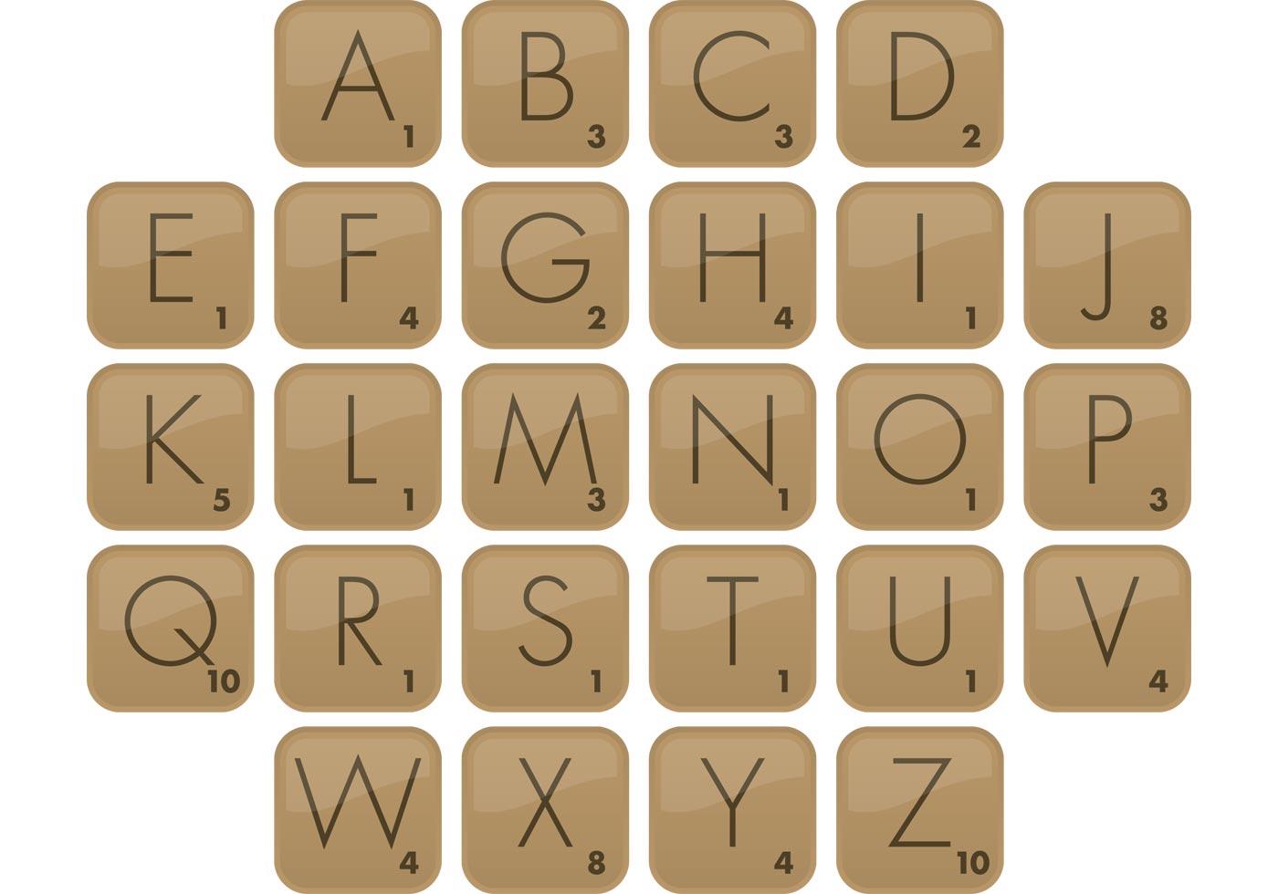Scrabble Font Free Vector Art - (11 Free Downloads)