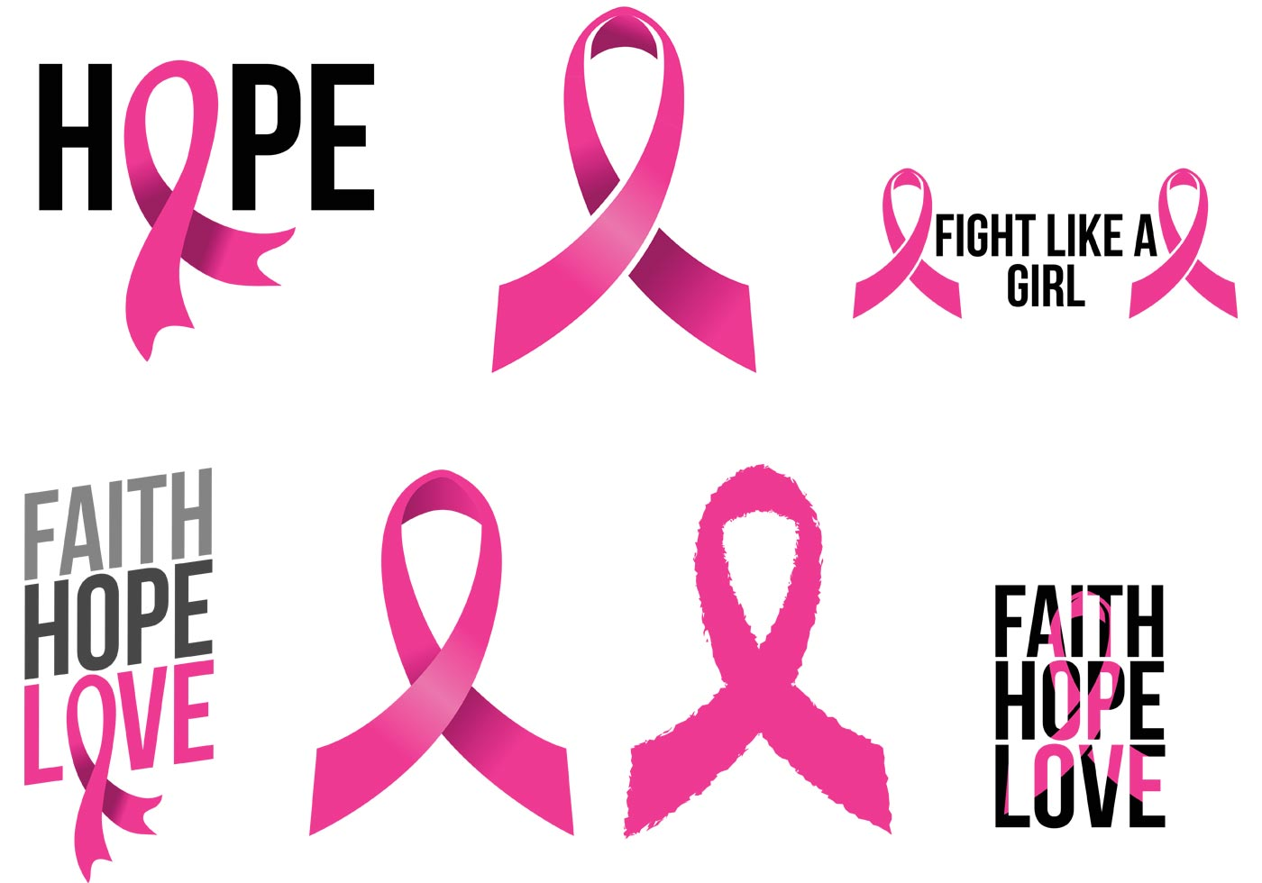 Breast Cancer Ribbons - Download Free Vector Art, Stock Graphics ...