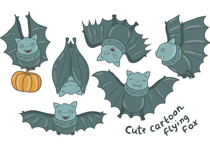 Free Flying Fox Vectors