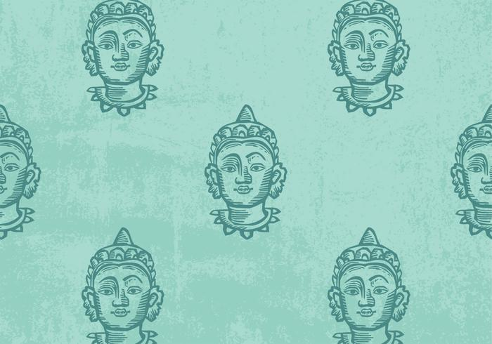 Buddha mönster vektor