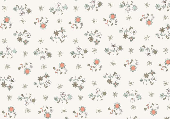 Dibujado a mano vector patrón de flores