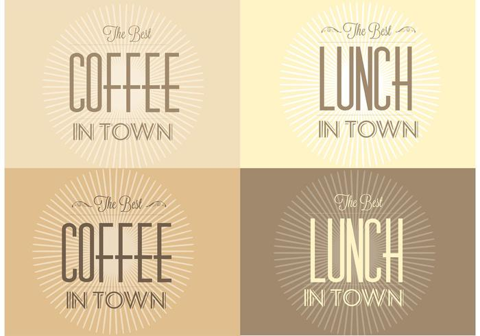 Free Retro Sunburst Cafe Backgrounds