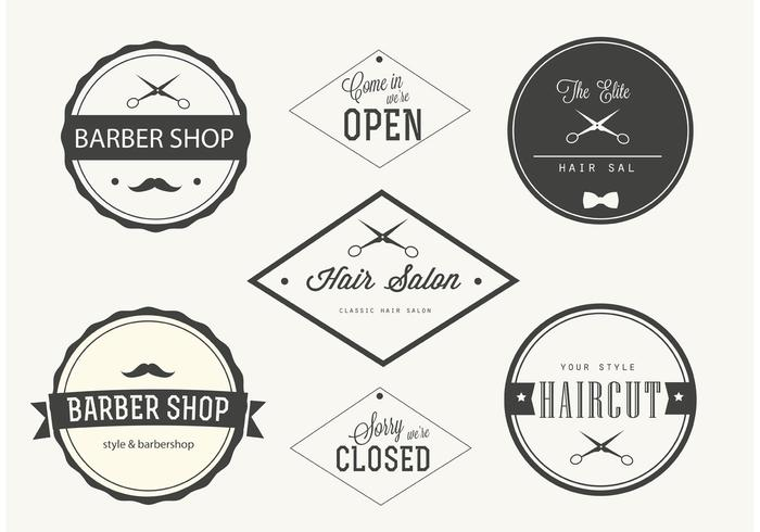 Trendy Barber Shop Etiketten