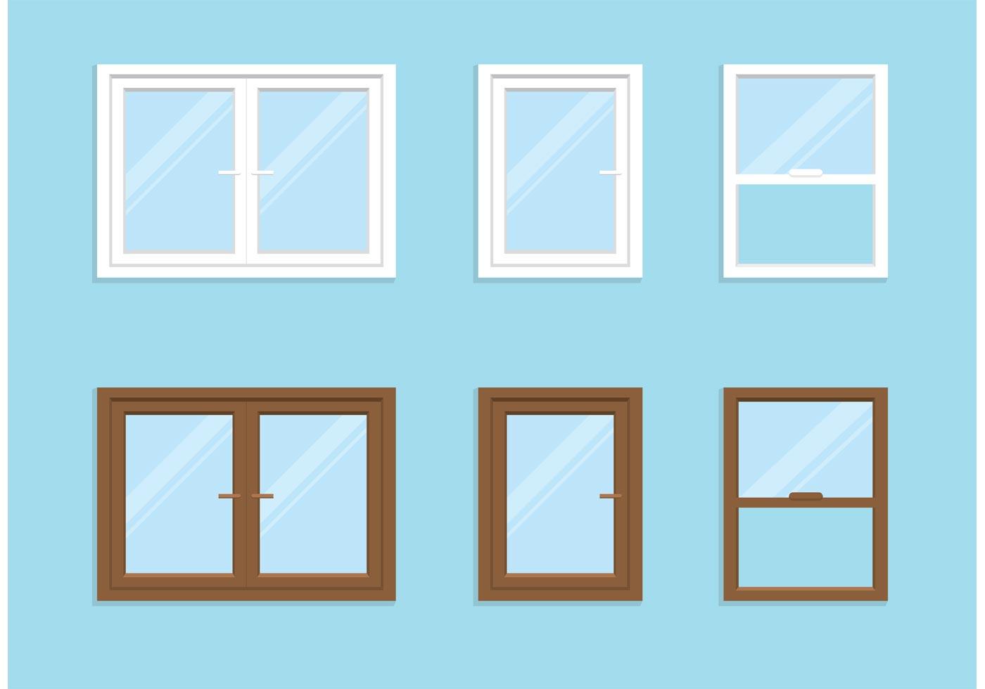 Free vector window set download free vector art stock for Window design 4 by 4
