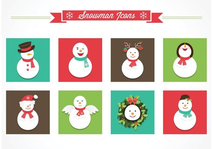 Free Snowman Vector Icons