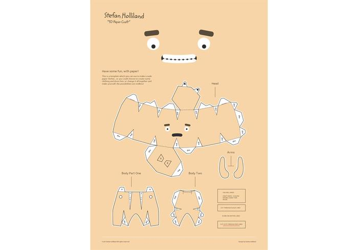 Vector Template Paper Craft!