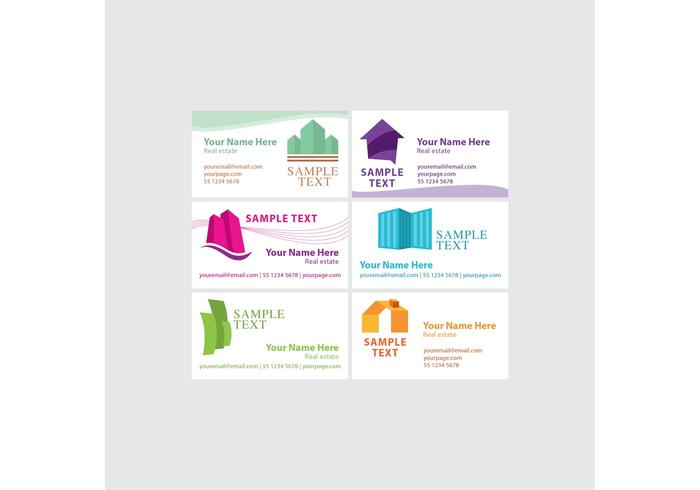 Real Estate Visiting Card Vectors
