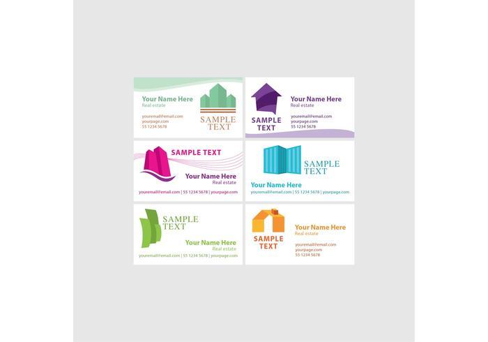 Immobilien-Visitenkarten-Vektoren