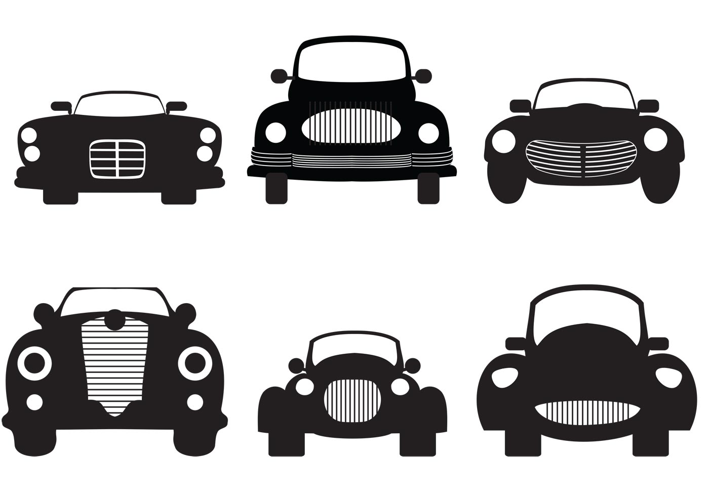 Old car silhouette vector 12
