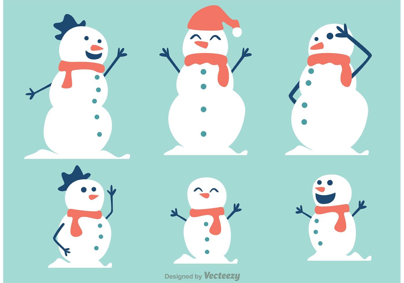 snowman free vector art 6611 free downloads