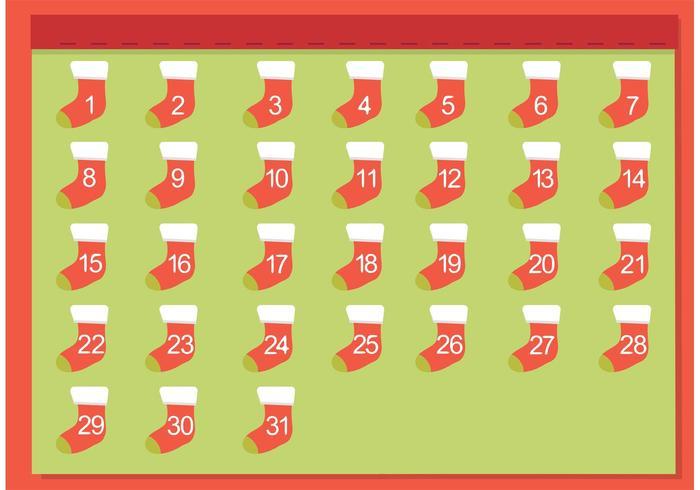Freier Weihnachtsstrumpf Adventskalender