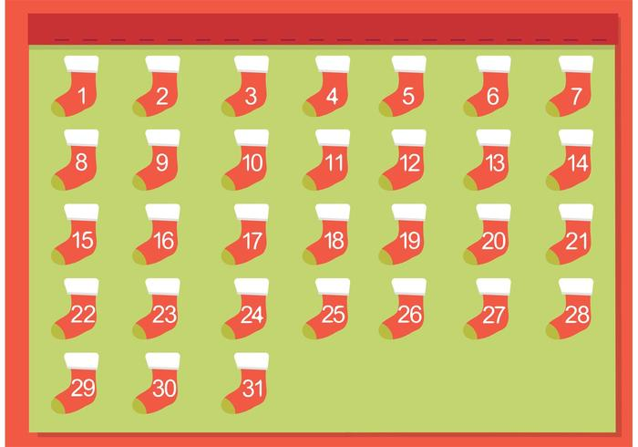Gratis Christmas Stocking Advent Kalender vector