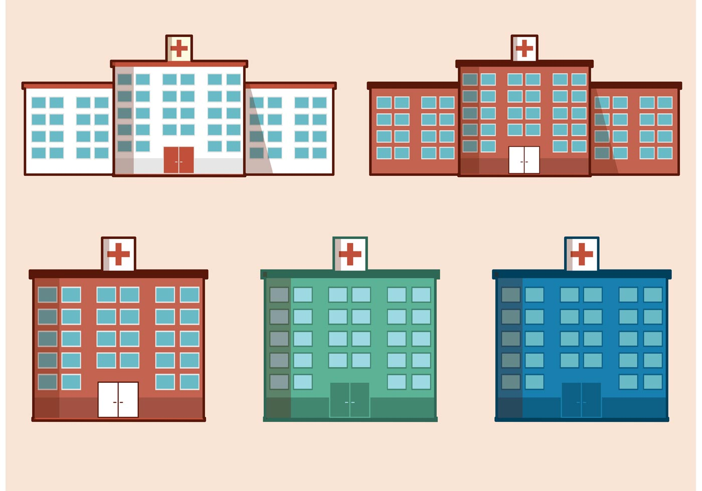 Free vector hospital building download free vector art for House builder online free