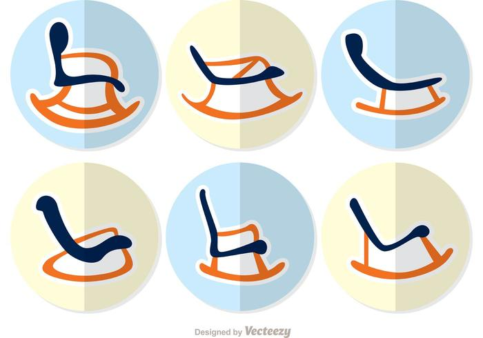 Rocking Chair Flat Design Vector Pack 2