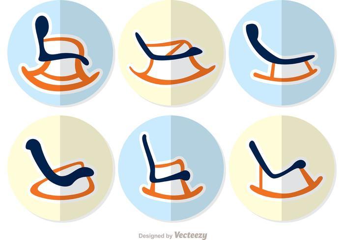 Chaise à bascule Flat Design Vector Pack 2