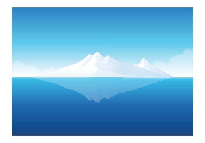 Free Vector Iceberg Underwater