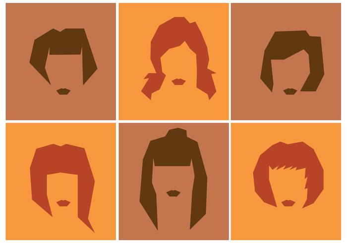 Women's Hairstyle Vectors