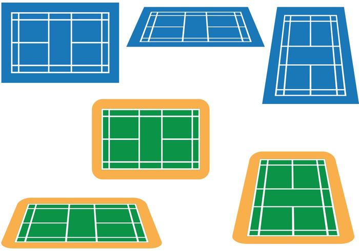 Badminton Court Vektor Pack