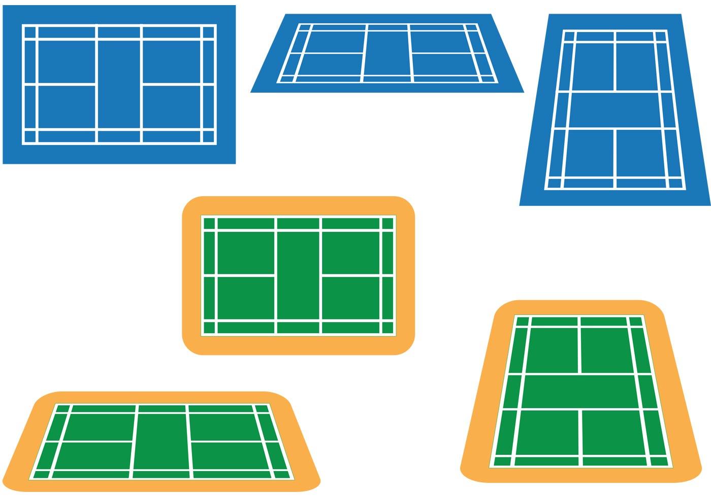 Badminton Court Vector Pack Download Free Vector Art