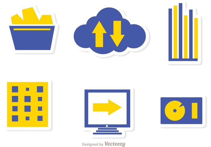 Grote data management icons vector pack 3