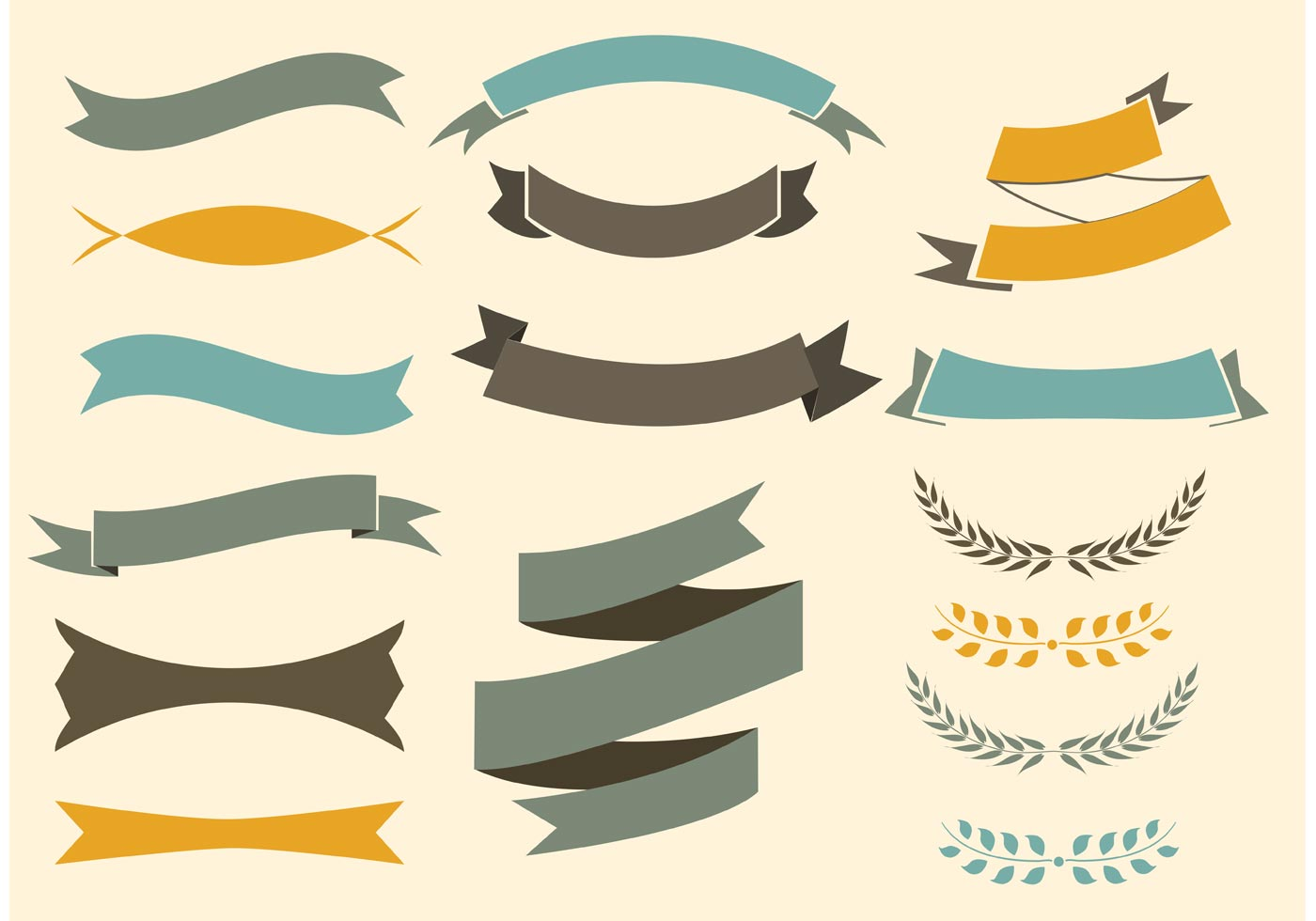 Free Vector Ribbons Set - Download Free Vector Art, Stock ...