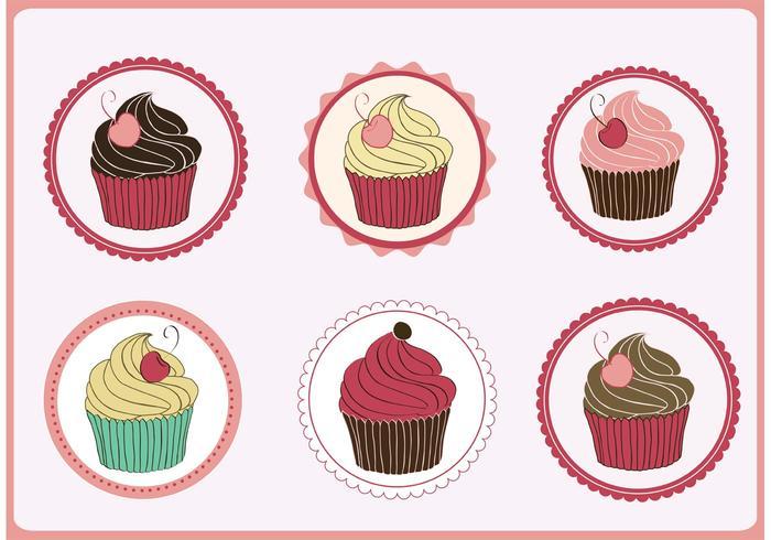 Cupcakes Vectoren