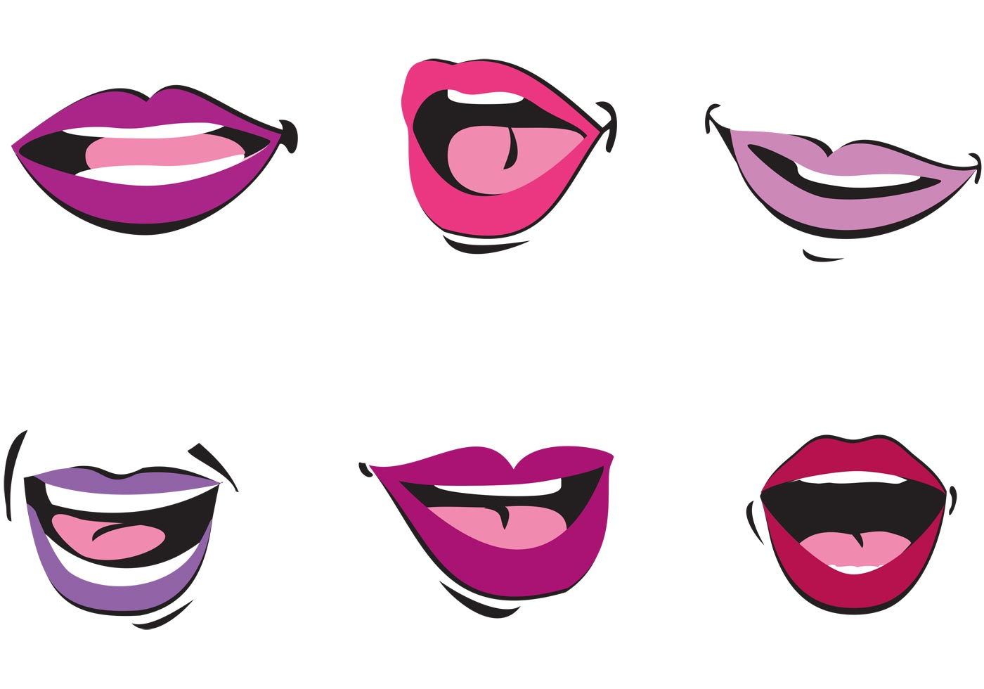 mouth free vector art 4944 free downloads rh vecteezy com Tongue Vector Cartoon Mouth Clip Art