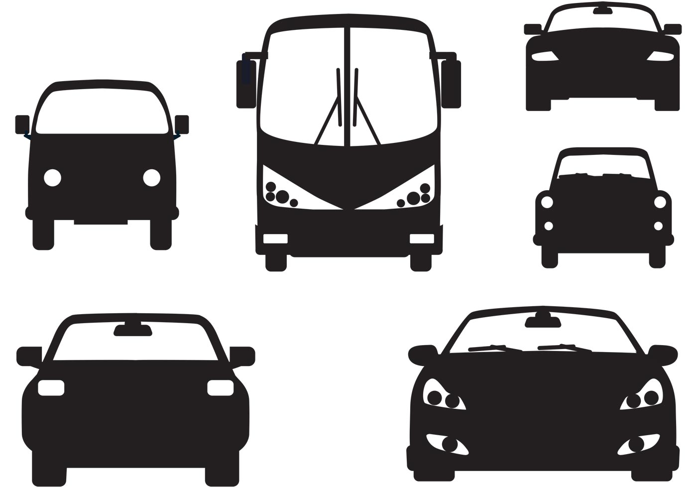 car fronts view download free vector art stock