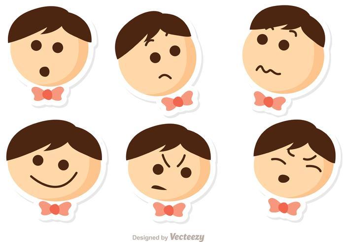 Pack Emo Emotions Vector