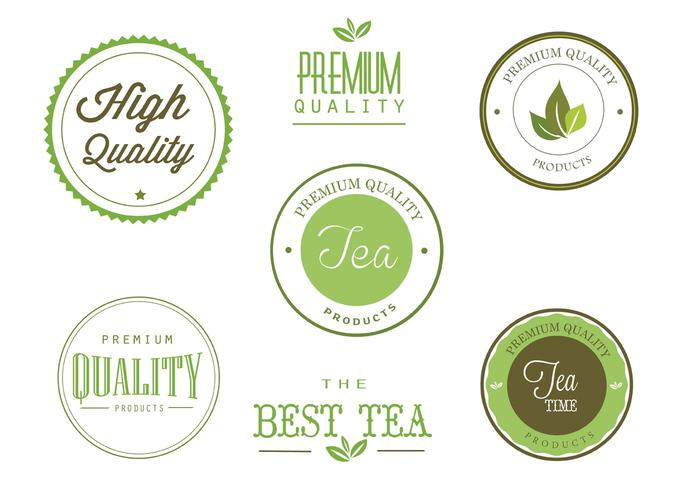 Free Tea Labels Vector Set