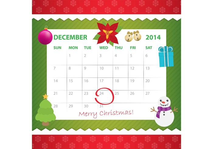 Diciembre Calendario de Adviento vector
