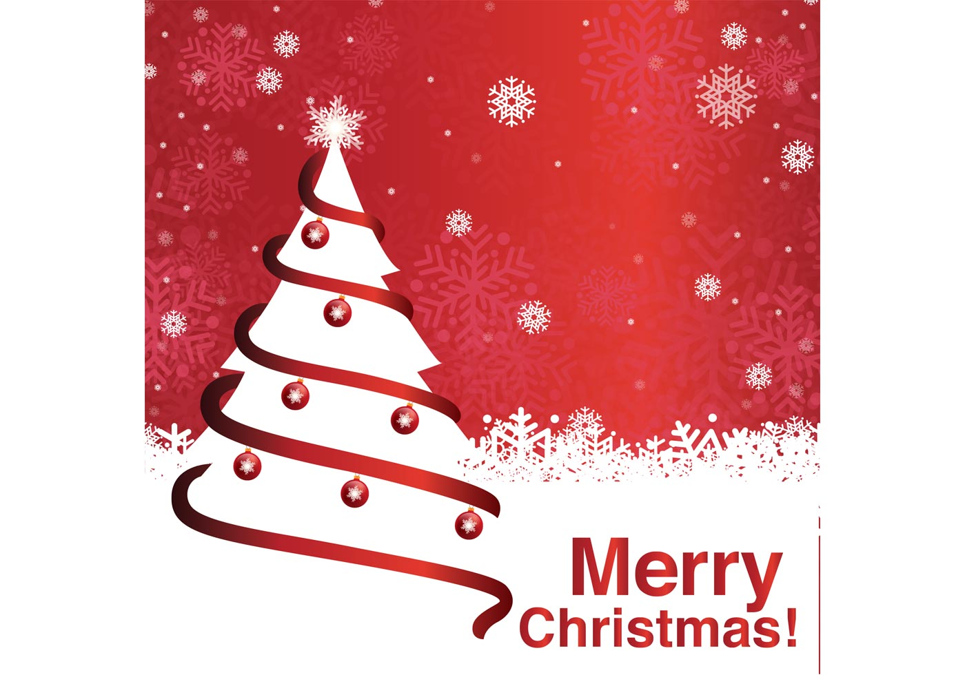 Merry Christmas Tree Background Download Free Vector Art