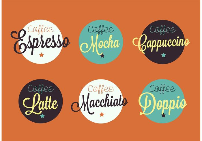 Vintage Espresso Abzeichen