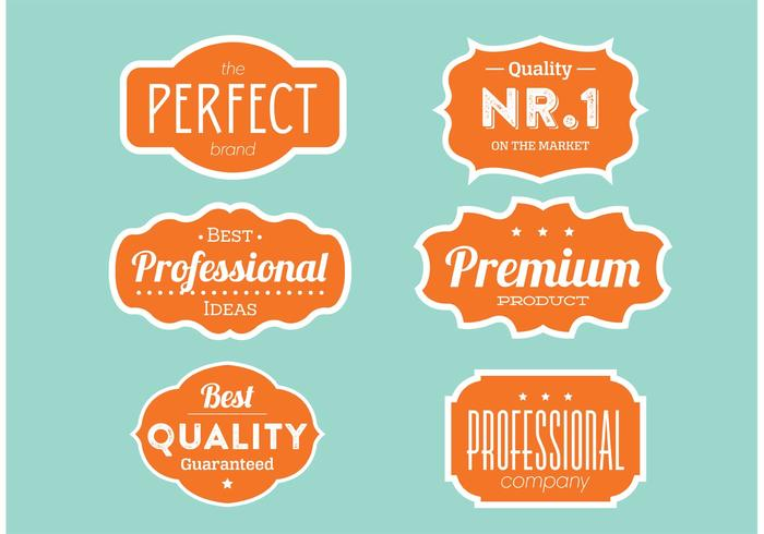 Quality Label Collection vector