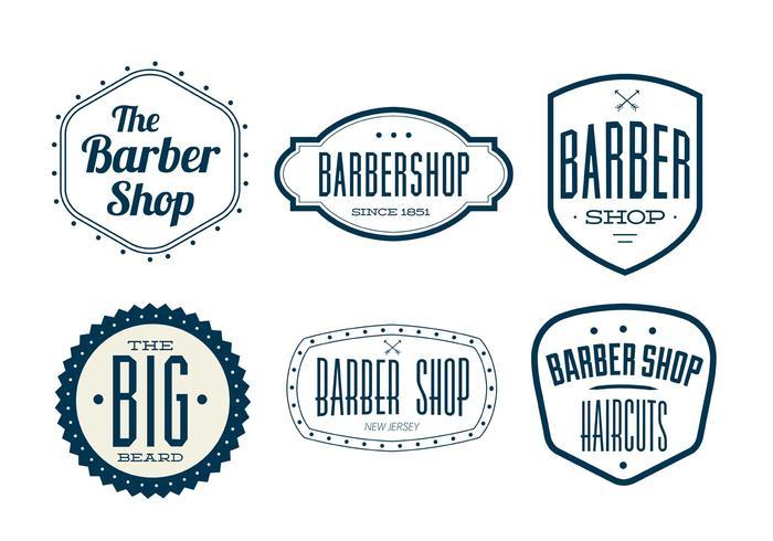 Vintage Friseur Shop Etiketten